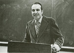 Joseph Cammarosano in the classroom during the 1970s. He joined the Fordham faculty in 1955.