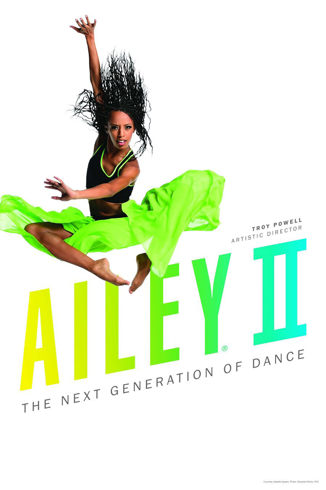Spears is featured on this season's Ailey II poster. Photo courtesy of Alvin Ailey American Dance Theater