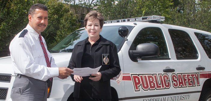 Fordham Public Safety Officers at the Rose Hill Campus