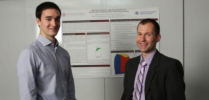 Jeremy Fague (left) with Professor David Swinarksi