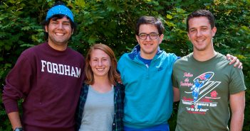 Brogan (second from right) with fellow Jesuit Volunteers