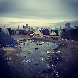 "A refugee camp in Calais, France, is known as ""The Jungle."" Photo by Alexander van Tulleken"