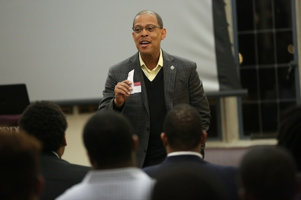 Fordham Gents Mentoring Event at Rose Hill, Feb. 8, 2016 Photo by Bruce Gilbert