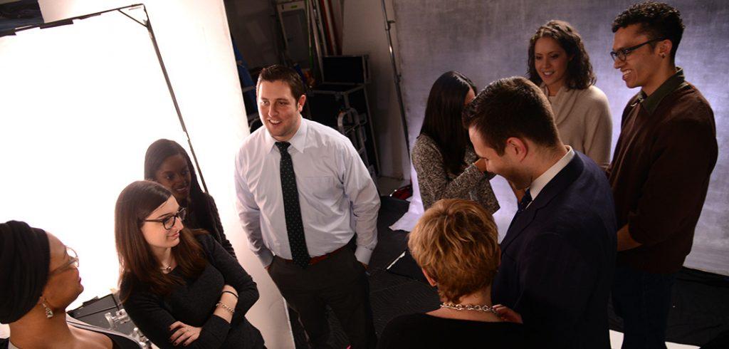Scholars on set.