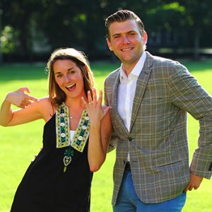 When Mike Brady proposed to Katelyn Scavone in July 2014, he knew the Rose Hill campus was the only place to do it.