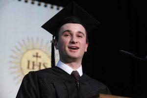 Class valedictorian Brett Bonfanti