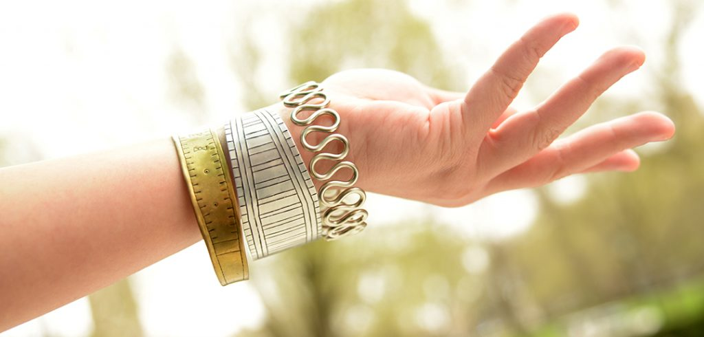 Jewelry made in Nairobi.