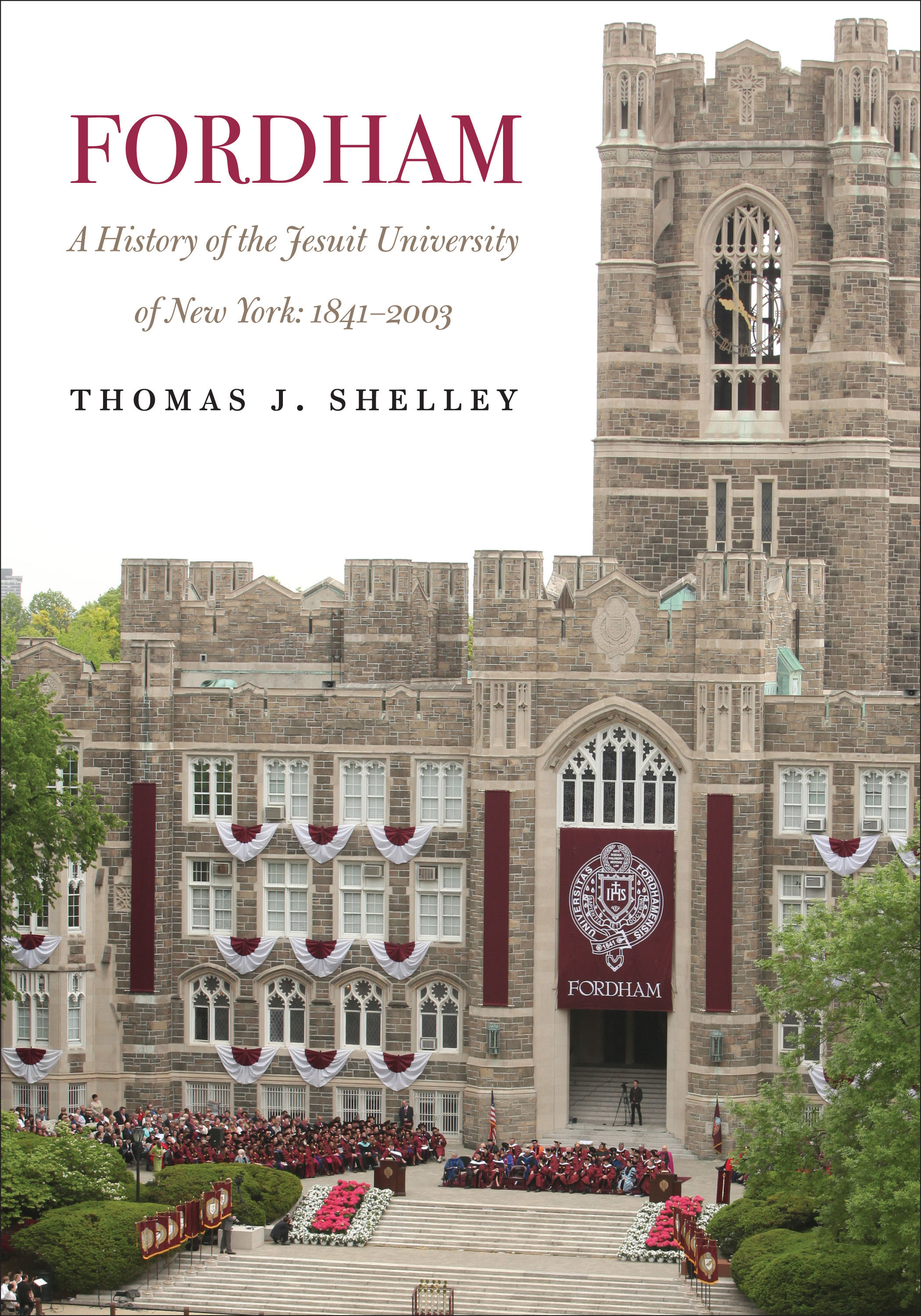 fordham college logo. cover of fordham, a history the jesuit university new york: 1841\u2013 fordham college logo