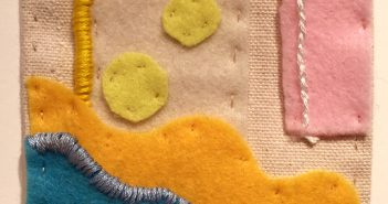 Margaret McCauley's felt collage