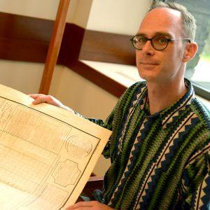 Timothy Ryan Mendenhall, metadata librarian at the Walsh Library.
