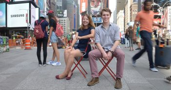 Sophia Waldron, a rising junior, and Nick Makarov, a rising senior,.