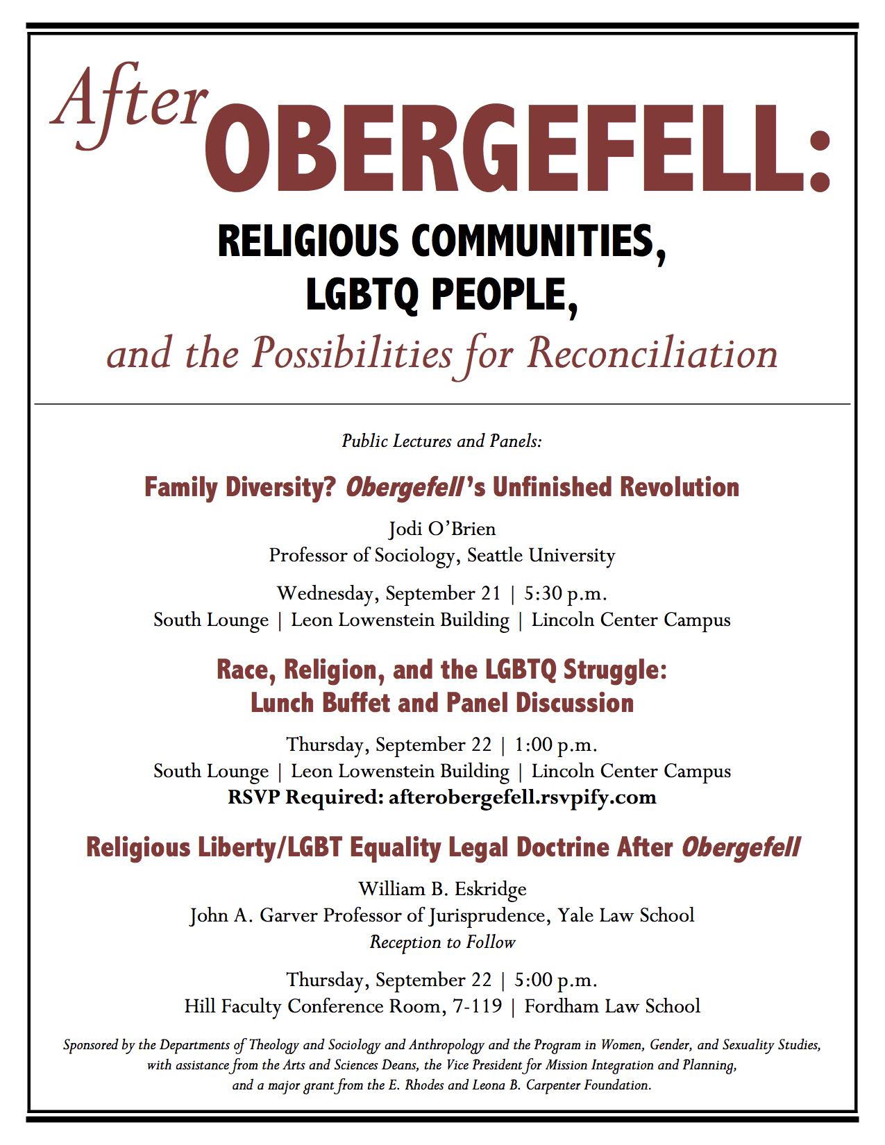 Race, Religion, and the LGBTQ Struggle: Lunch Buffet and