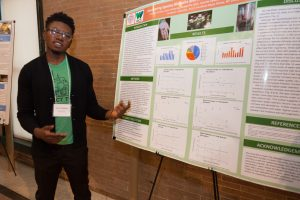 Frimpong presenting his work
