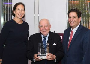 FLAA President Sharon McCarthy '89, Judge Calabresi, and Dean Diller. Photo by Chris Taggart.
