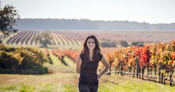 Fordham alumna and certified sommelier Gabriella Macari at Macari Vineyard, her family-run winery on the North Fork of Long Island.