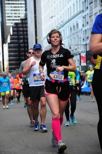Hinze en route to finishing her first New York City MarathonContributed photo