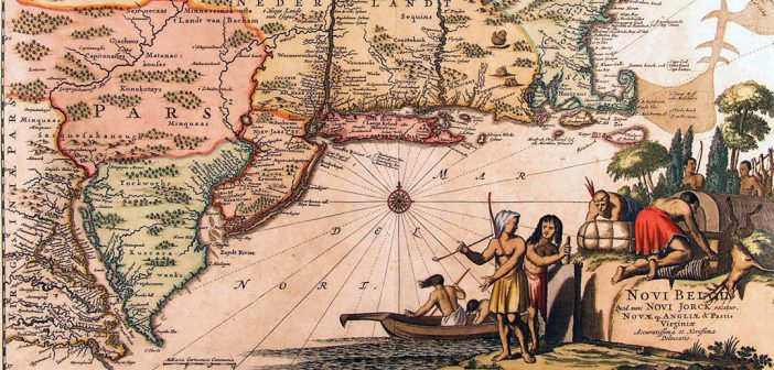A map of Dutch New York and early New England, 1671
