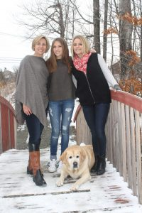 Kristine Welker with her daughters