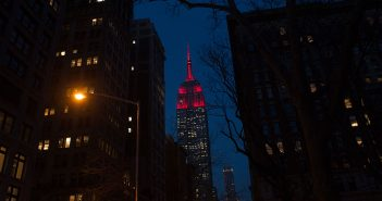 Empire State Building in Fordham Maroon