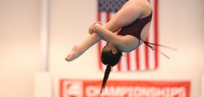 Fordham junior diver Wendy Espina-Esquivel