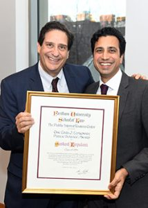 Fordham Law Dean Matthew Diller and Susheel Kirpalani LAW '94