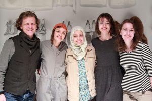 (L-R) Les Bonnes director Oliver Henzler, Hélène Godec, Mariam Moustafa, Lucy O'Brien and Ellen Thome.
