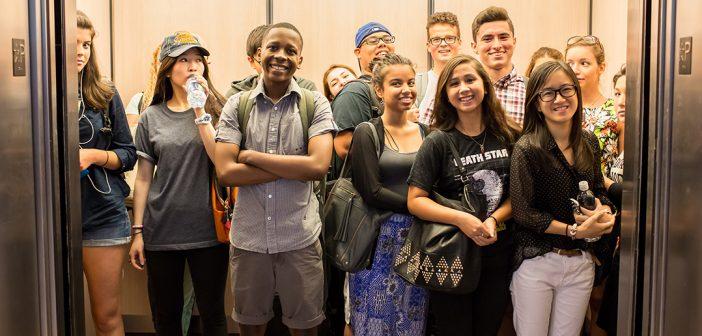 Lincoln Center Elevator Crowd