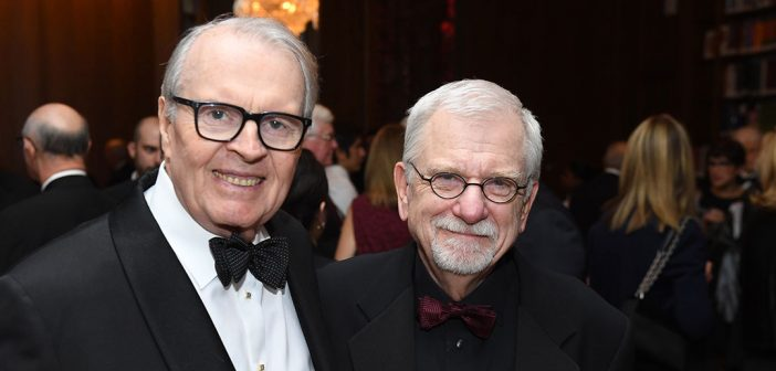 Fordham alumnus Charles Osgood with Bill Baker, the evening's MC
