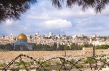This is a photograph of the city of Jerusalem, which has been at the center of the Israeli–Palestinian conflict.