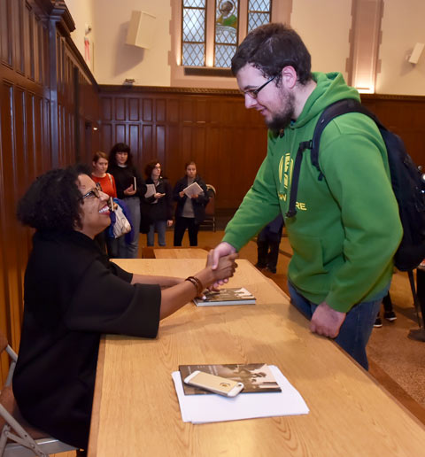 Robin Coste Lewis signs book