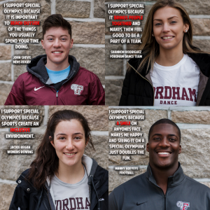 "The Special Olympics Club at Fordham organized a ""Why We Pledge"" campaign in support of the special needs community. Photos by Jessica Mingrino"