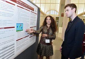 "Integrative neuroscience major Melissa James presents her research project, ""Development of Emotion Regulation in Children."""