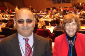 UN reps included Fordham professors Dinish Sharma and Elaine Congress.