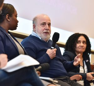 To combat poverty, Micheal Zisser, an adjunct professor at GSS and former CEO of the University Settlement and The Door, said human services organizations must strengthen their business model and diversify funding streams. Photo by Dana Maxson