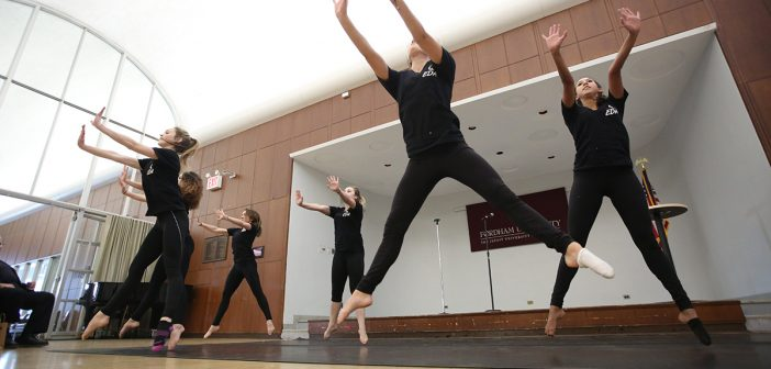 Fordham's Expressions Dance Alliance performs at Bronx Celebration Day.