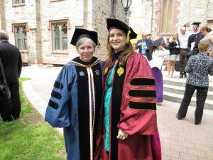 L-R) Kathleen Schiaffino with mentee Lisa DeBellis. Photo courtesy of Lisa DeBellis.