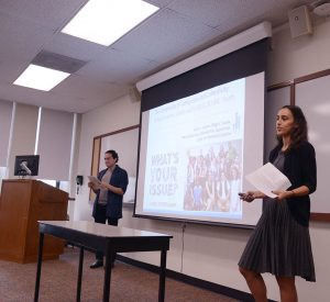 CUNY doctoral students Diego Rueda and Allison Cabana share findings from their participatory project focused on LGBTQ and Gender Non-Conforming (GNC) youth at the 2017 SQIP Conference on May 24, 2017 .