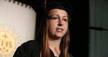 FCRH Class of 2017 valedictorian Jennifer Rutishauer