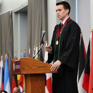 Valedictorian John Witkowski