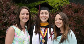 Abby, Shannon, and Emily Harman are all graduates of the Gabelli School of Business.