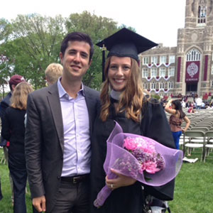 Marchese with Foody at her 2014 graduation from Fordham College at Rose Hill.