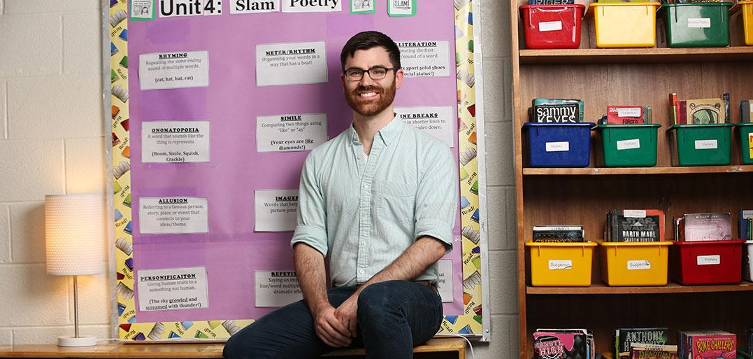 Alex Corbitt, GSE alumnus, teacher at MS 331 in the Bronx