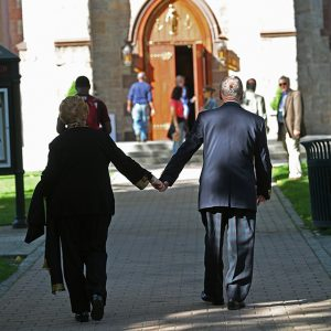 Couple at University Chuch