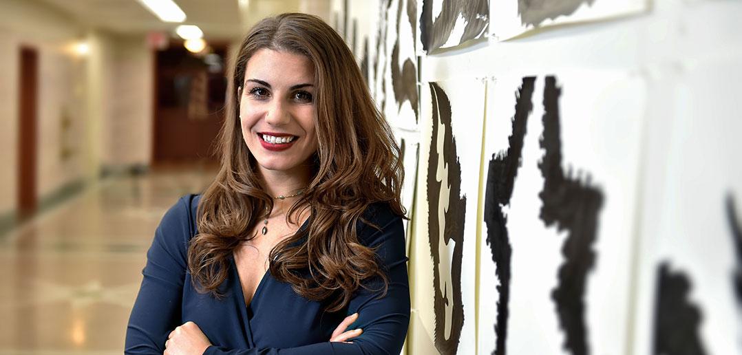 Lauren Duca after her presentation at Fordham