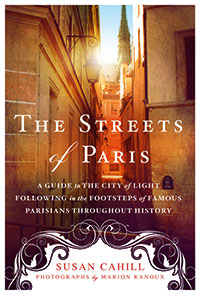 "Cover image of the book ""The Streets of Paris"" by Fordham alumna Susan Cahill"
