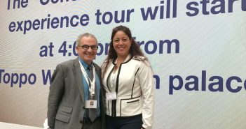 Stephen Freedman Ph.D., provost of the University with GSS student Sandy Soler at the G7 University Summit.