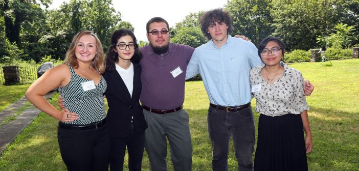 (L-R) Lauren Beglin, Merve Karakaya, Joseph Gross, Connor Gilligan, and Linelle Abueg.