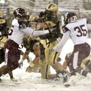Fordham and Army in snowstorm