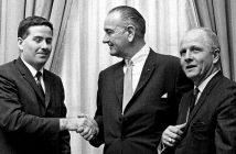 John Feerick with President Lyndon B. Johnson and Representative Richard Poff at the White House in 1967.