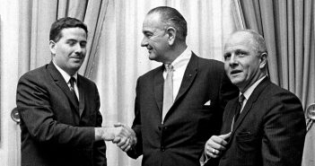 John Feerick with President Lyndon B. Johnson and Representative Richard Poff at the White House in 1967.